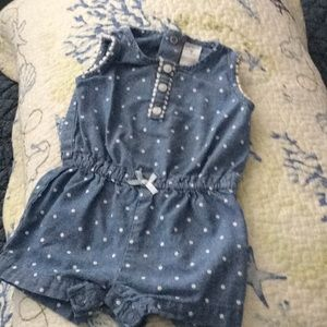 Carter's One Pieces - Bundle of Chambray, Denim Play Clothes